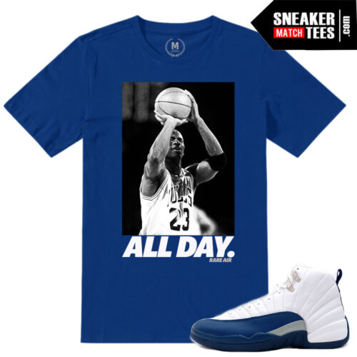 Shirt Match French Blue Jordan 12s