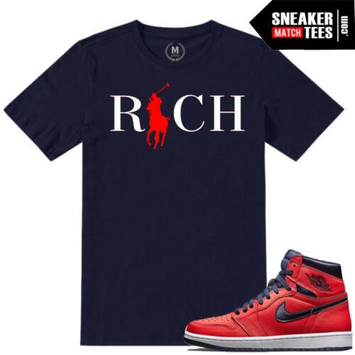 Sneaker shirts match Jordan 1 Letterman