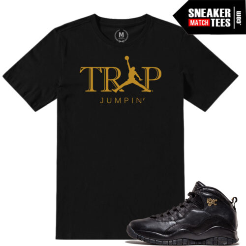 t shirt match Jordan 10 NYC