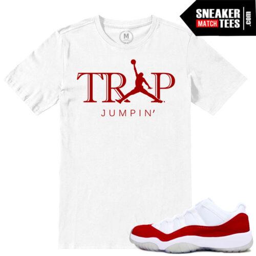 Air Jordan 11 Tshirts match Varsity Red low 11s