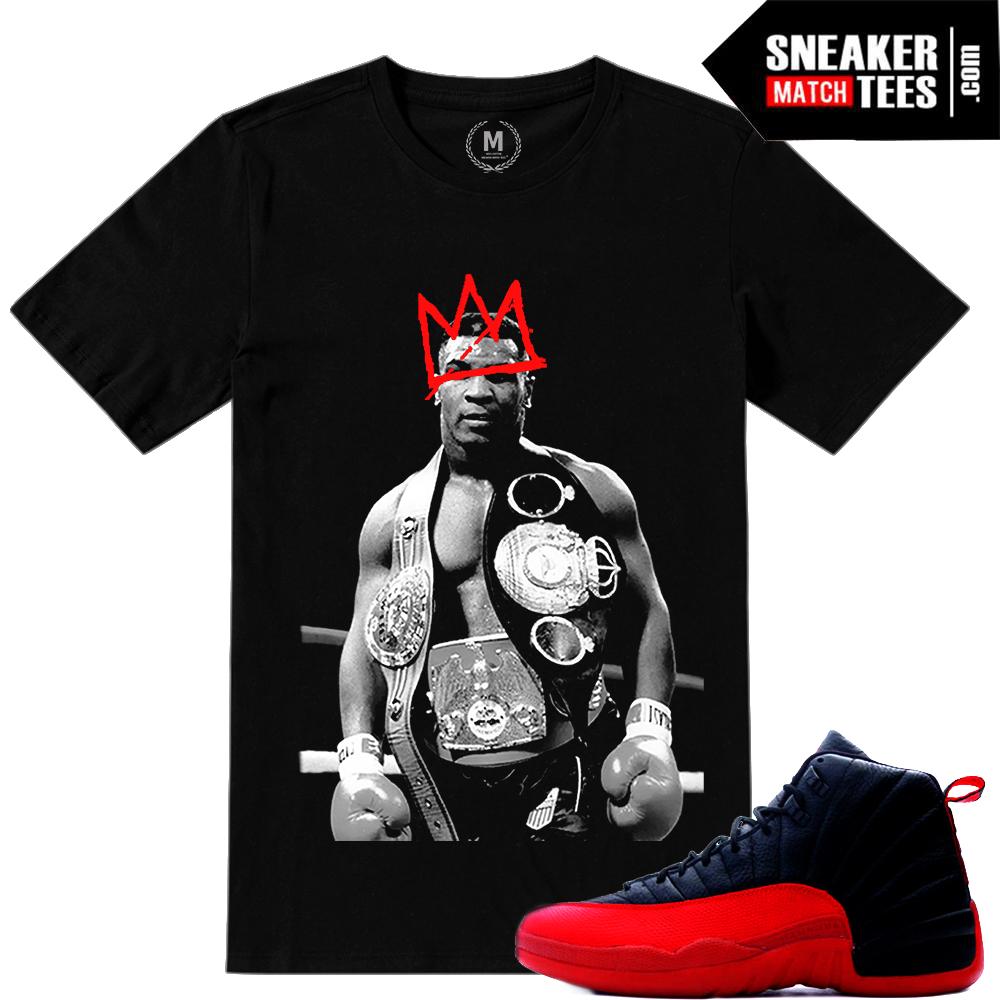 Air Jordan 12 Flu Game Sneaker Tees Match Sneaker Match Tees