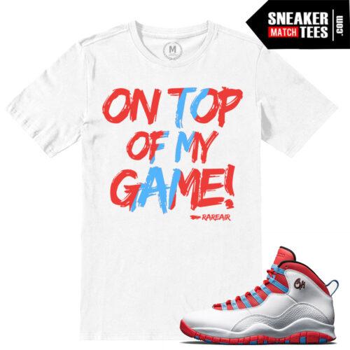 Chicago 10s match t shirt