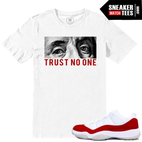 Jordan 11 Low Varsity Red Match sneaker tees
