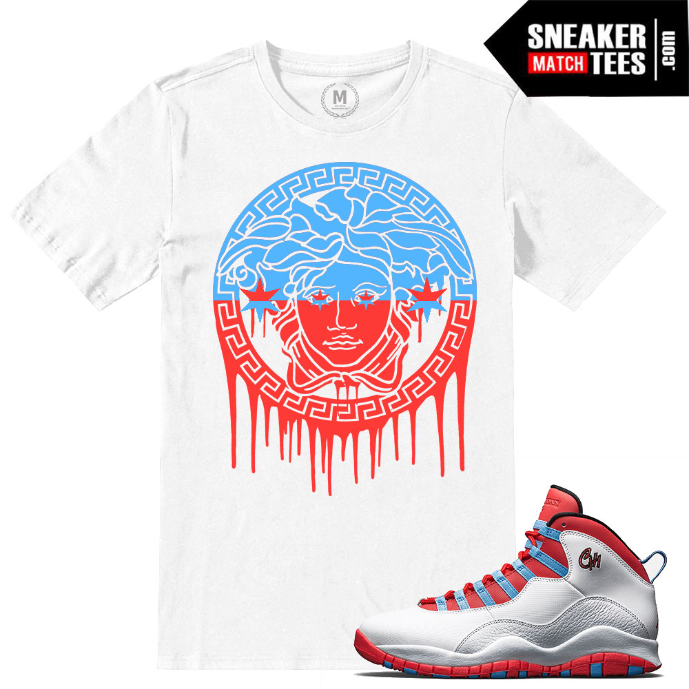Match Jordan 10 Chicago Flag T Shirts Sneaker Match Tees