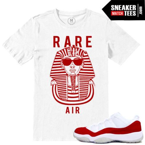 Match Varsirty Red 11 Lows Air Jordan Retros T shirts