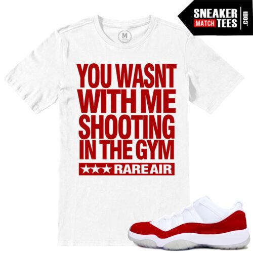 Match Varsity Red Jordan 11 t shirts