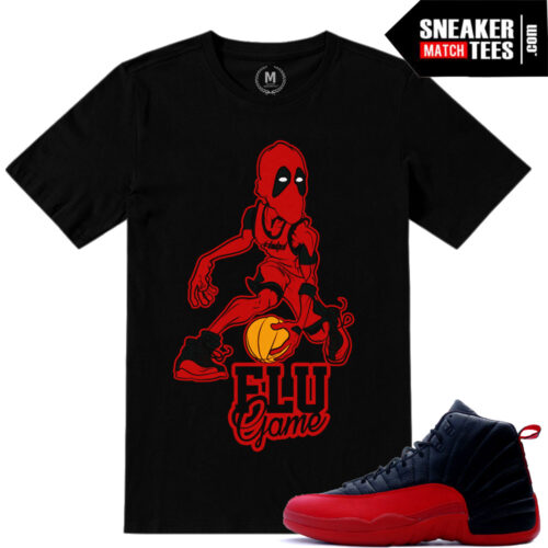 Shirt match Flu Game 12 Jordan Retros