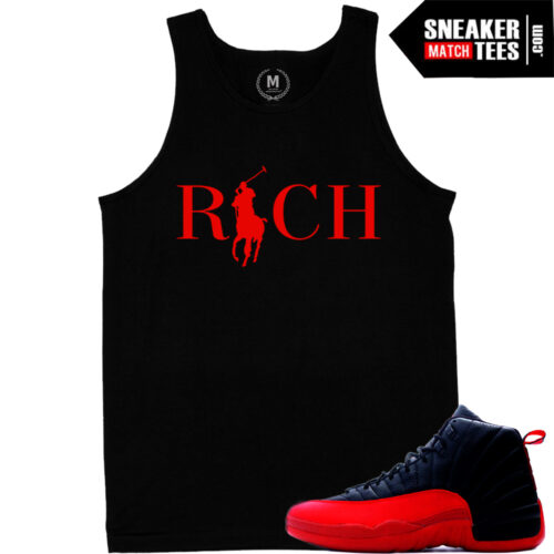 Sneaker tank tops match Jordan 12 Flu Game