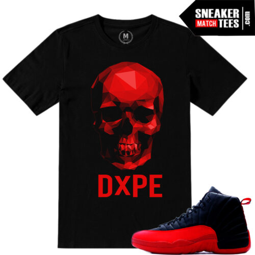 Sneaker tees match Jordan 12 Flu Game