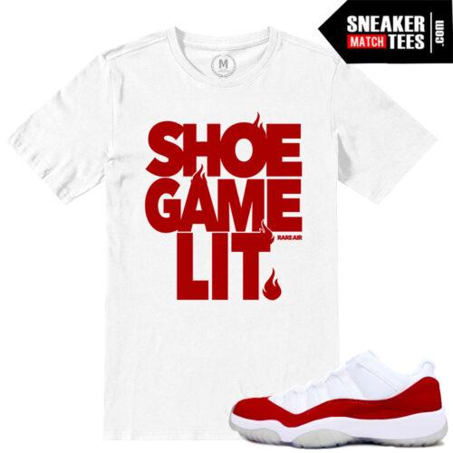 sneaker tees Jordan 11 low Varsity Red match shirts
