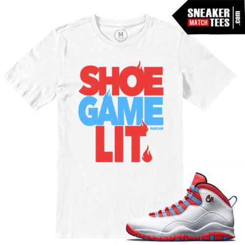 t shirt matching Chicago Flag 10s