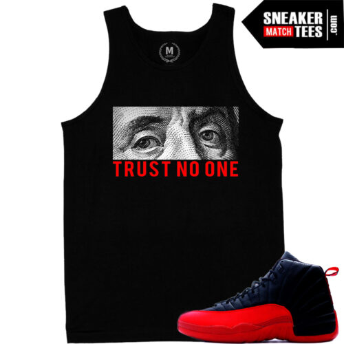 tank top t shirt match jordan 12 flu game