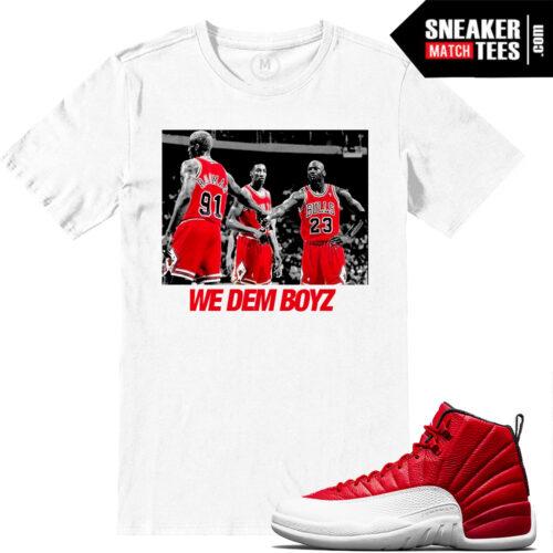 Air Jordan 12 Gym Red Matching Shirts
