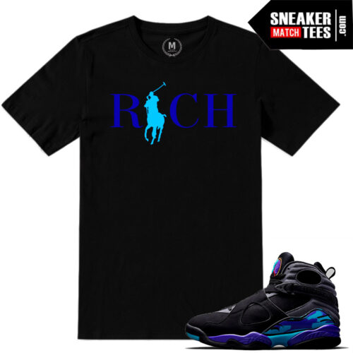 Aqua t shirts match Jordan 8 Retros
