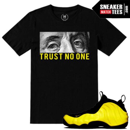 Foamposite t shirts match Optic Yellow Foams