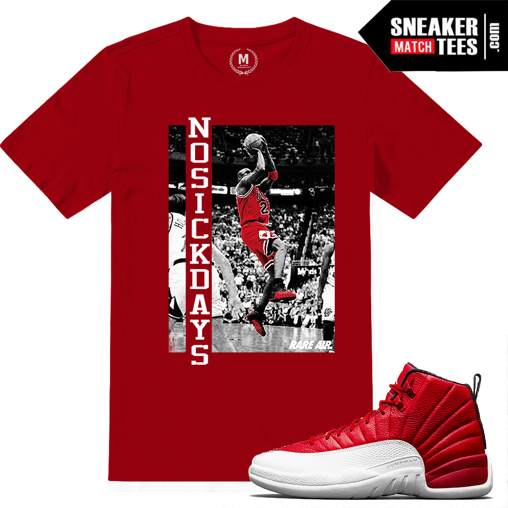 ecea0cffd6f Gym Red 12 sneaker tee shirts matching | Sneaker Match Tees