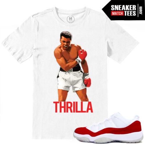 Jordan 11 Varsity Red Match Mohammad Ali T shirt