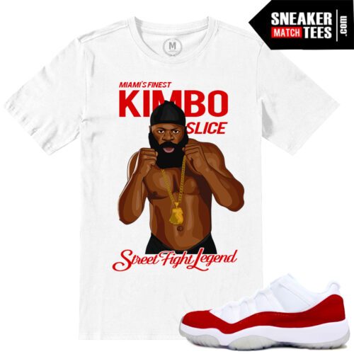Jordan Retro 11 low Varsity Red Match Sneaker tees shirt