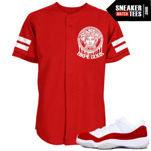 Jordan Retro Varsity Red 11 Match Jersey Red