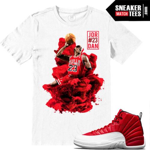 Jordan Retros 12 Match Gym Red Tshirts