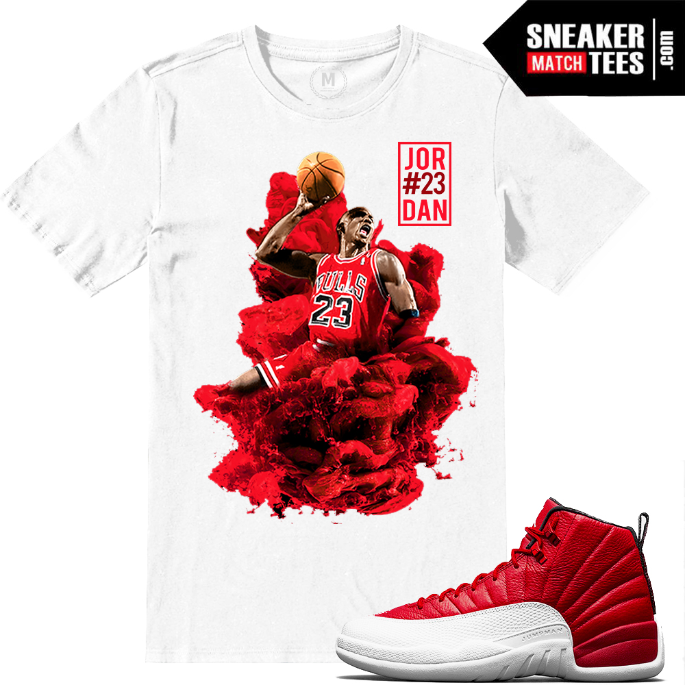 4fabebcbf11 Jordan Retros 12 Match Gym Red Tshirts | Sneaker Match Tees