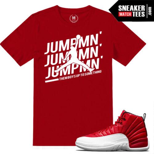 Jordan t shirts match Gym Red 12s