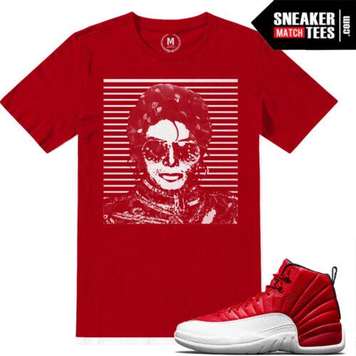Shirts match Gym Red 12 Jordans
