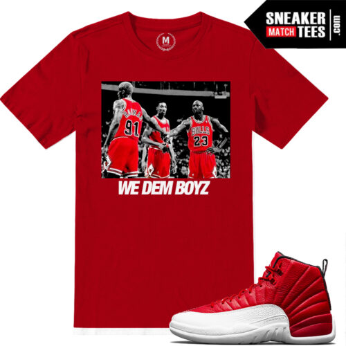 Shirts match Jordan Retro Gym Red 12s