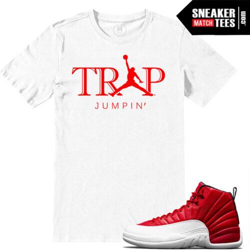 Sneaker shirts match Jordan 12s Gym Red