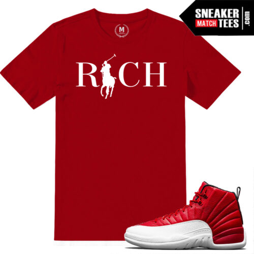 T Shirts match Gym Red 12s