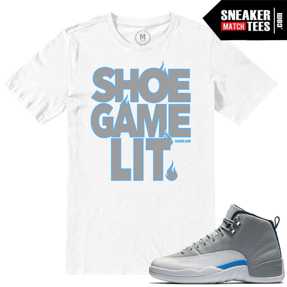 a2569b102f9b T shirts match Wolf Grey 12 Retro Jordan