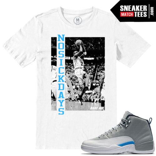 UNC Wolf Grey 12 Jordan T shirt match sneakers