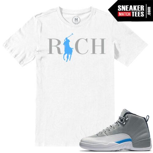 Wolf Grey sneaker tees match Jordan 12