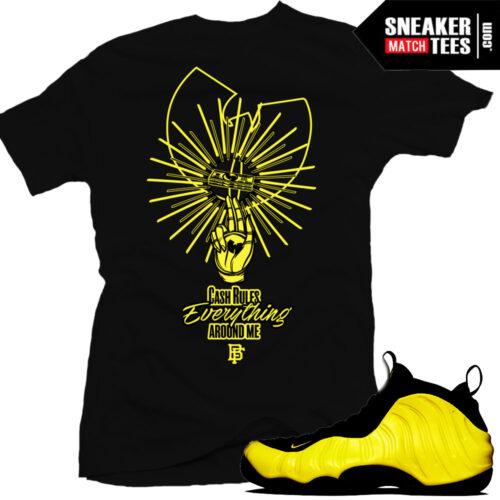 Wutang Foamposite t shirts match