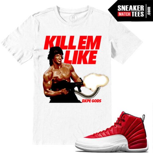 Gym Red Jordan Retro 12 Match T shirts