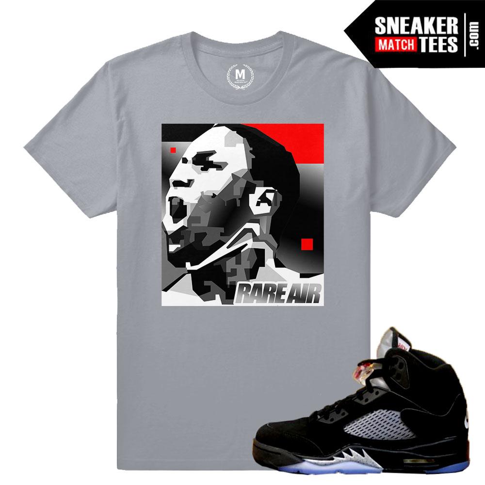 online store edafe 39396 Match Jordan 5 Black Metallic OG | MJ MonoChrome | Grey T shirt