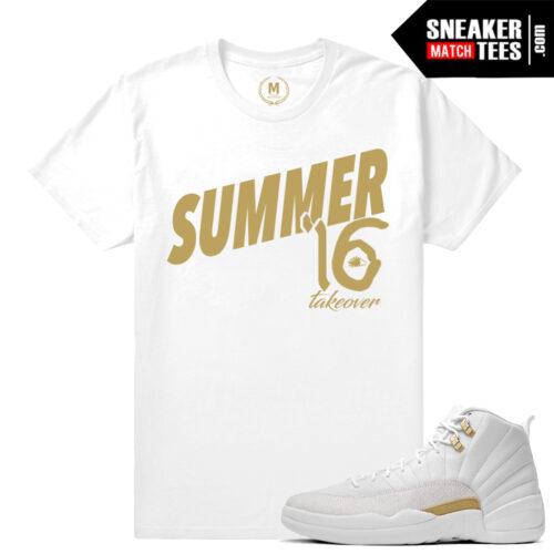 OVO 12s White T shirt match Jordan 12 OVO