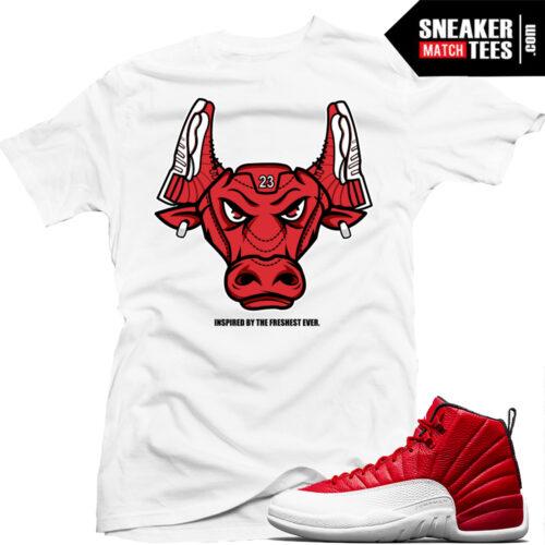 Shirts match Jordan Retros Gym Red 12