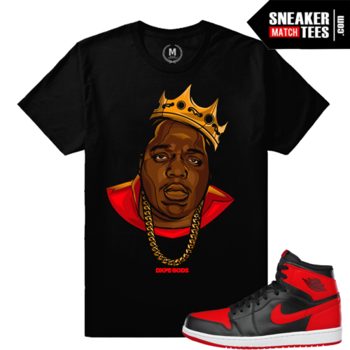 Jordan 1 Bred matching t shirt