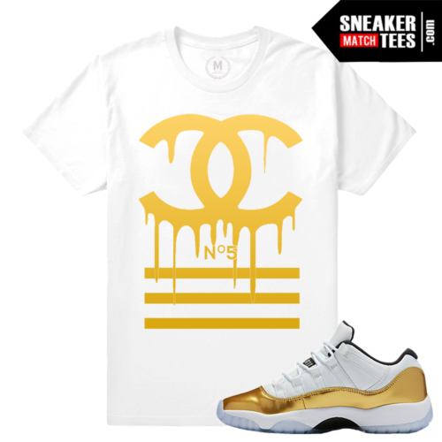 Jordan 11 low gold matching Shirt