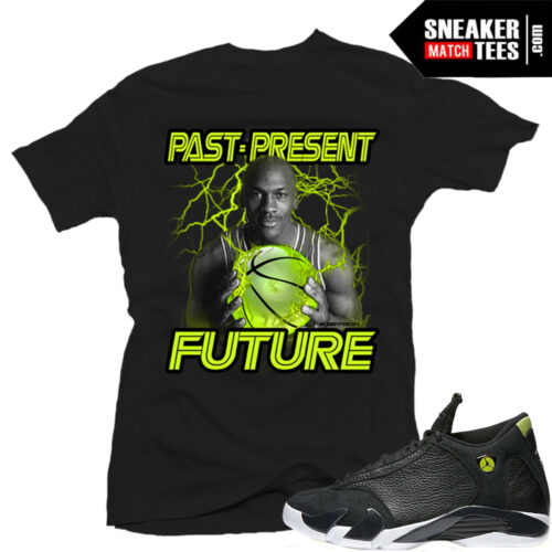 Jordan 14 Indiglo Match Sneaker tees