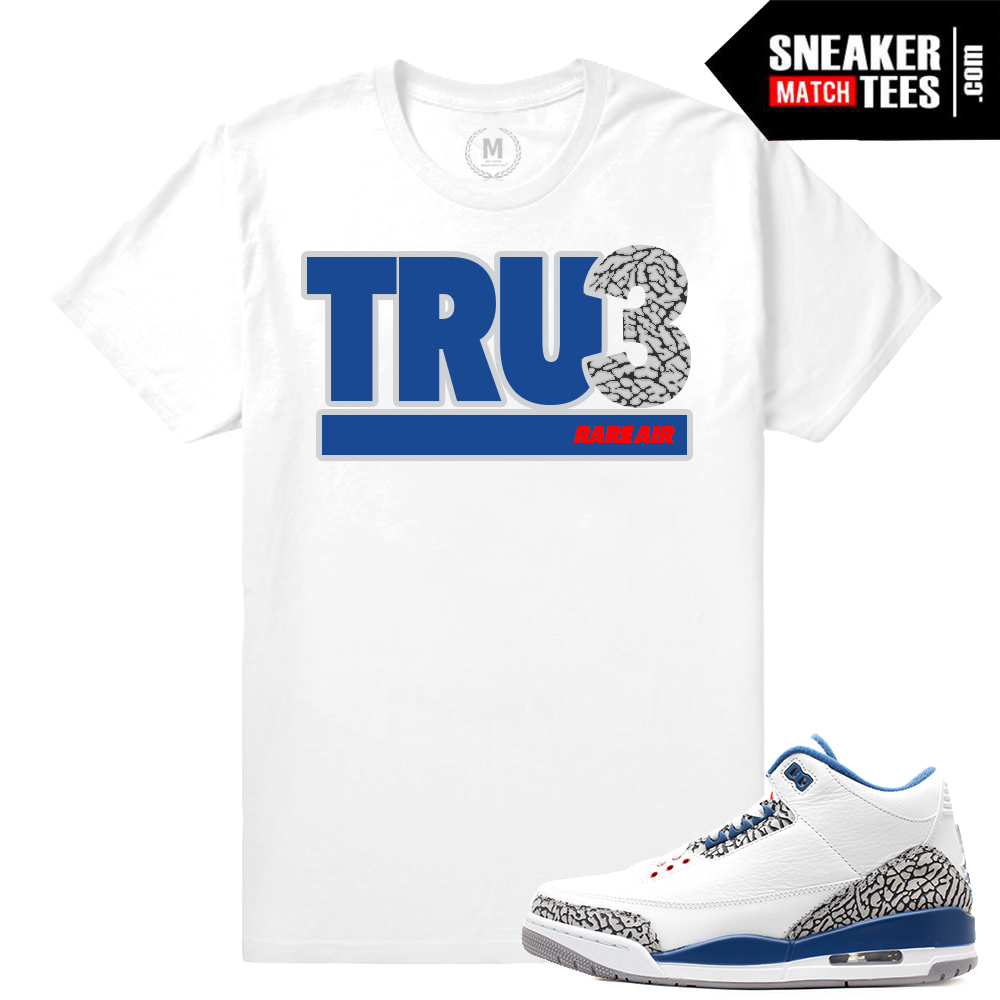 Jordan 3 True Blue Match T shirt | Sneaker Match Tees Yeezy Foams Shirt