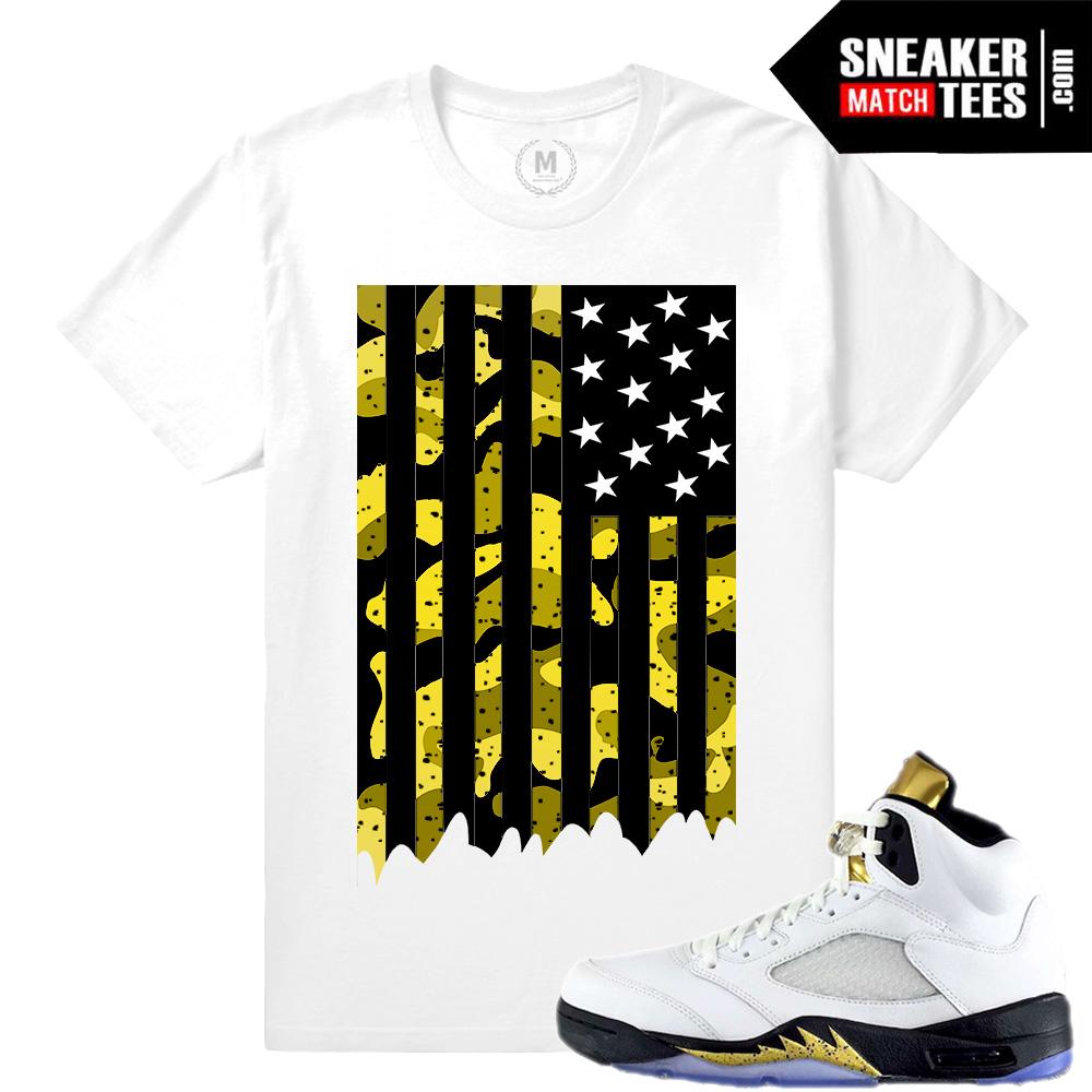 pretty nice 43b14 deca8 Jordan 5 Olympic Sneaker tees matching   Sneaker Match Tees Jordan 5