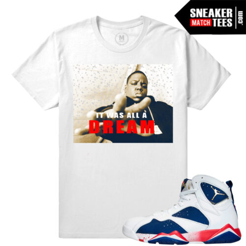 Jordan 7 Retro Tinker Alternate matching tee shirt