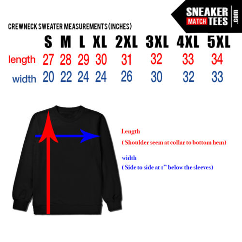 Sneaker Match Tees Black Crewneck Sweater Size Chart