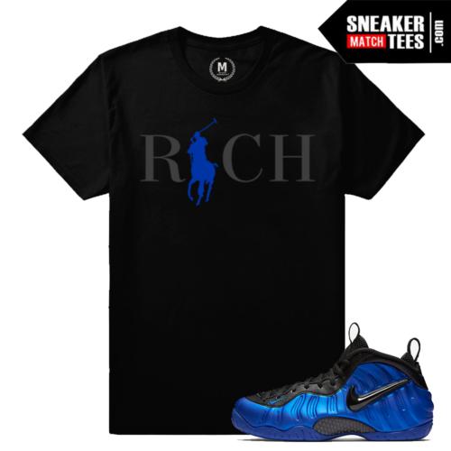Sneaker tees Match Cobalt Foams