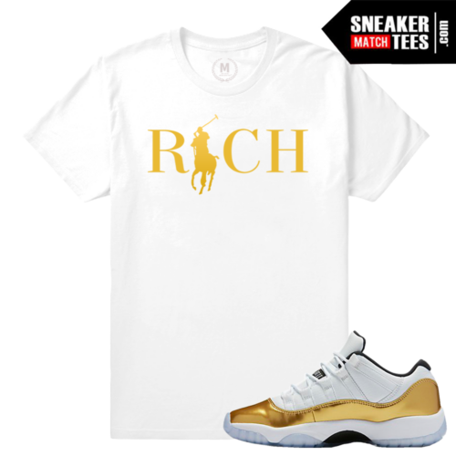 Sneaker tees Match Jordan 11 low Gold