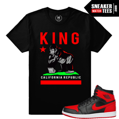 Sneaker tees match Jordan 1 Retro Banned Bred