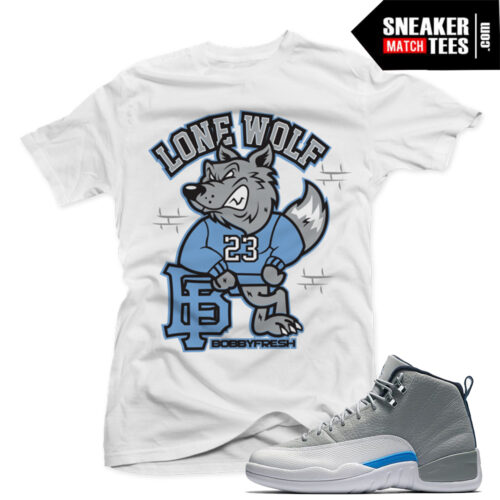 Wolf Grey 12 t shirt match sneakers