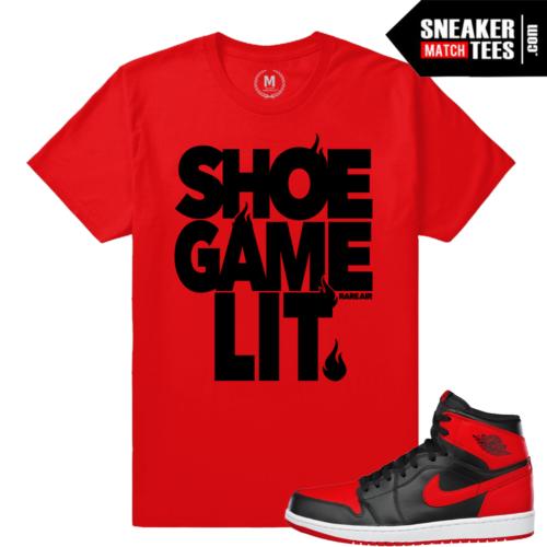 Bred 1 t shirt match Sneaker Match Tees